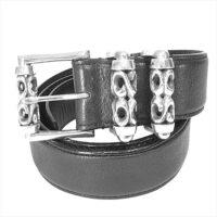アージェントグリーム  ローラー シルバーバックル レザー ベルト ブラック系 32 画像