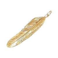 アリゾナフリーダム K18 Feather フェザー ペンダントトップ ゴールド 画像