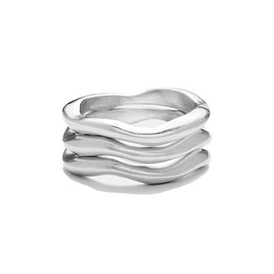 ジルプラットナー JILL PLATNER wavy stack Ring 画像